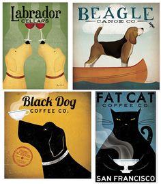 Vintage Pet Art Canvas Prints by Ryan Fowler $39 ($99 reg) w/ Free Shipping