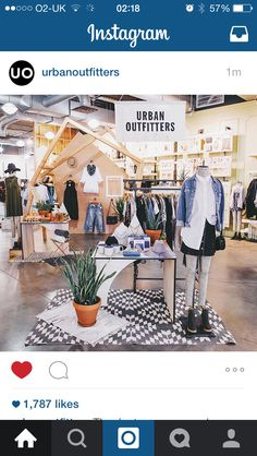 Feature display Urban Outfitters