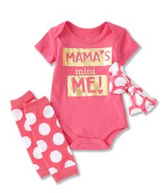 Baby Starters Baby Girl Month Mamas Mini Me Set - Pink 12 Months Baby Girl Onsies, Baby Girl Camo, Camo Baby Stuff, Baby Boy Newborn, Baby Boys, Lil Baby, Newborn Care, Disney Baby Clothes, Trendy Baby Clothes