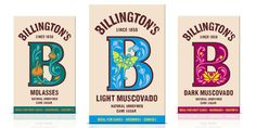 Billington's (Redesign) on Packaging of the World - Creative Package Design Gallery Sugar Packaging, Cool Packaging, Food Packaging Design, Packaging Design Inspiration, Graphic Design Inspiration, Packaging Ideas, Food Branding, Design Ideas, Design Agency