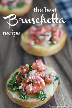 The BEST Bruschetta Recipe, EVER. It's a quick & easy appetizer that's PERFECT for a party!