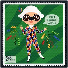 Arlecchino. Buon Carnevale! #giuliabasolugrafica #graphic #illustration #drawing #illustrator #digitalart #vector #harlequin #carnival