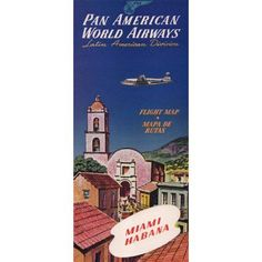 Marmont Hill Miami Habana 2 inch Pan Am Vintage Aviation Print on Canvas, Size: 18 inch x 36 inch, Multicolor