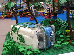 The Dharma Initiative bus from Lost. LEGOs by Jon Furman
