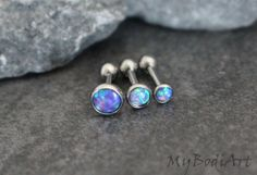 Gorgeous Opal Gemstone Top Silver Barbell Piercing for Tragus Earring, Conch Piercing, Cartilage Stud, Helix Jewelry, Rook Piercing etc. Helix Piercing Jewelry, Conch Jewelry, Cartilage Jewelry, Conch Earring, Helix Earrings, Opal Earrings, Conch Stud, Jewellery, Tragus Piercings