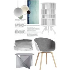 gray shapes by senaa on Polyvore featuring interior, interiors, interior design, home, home decor, interior decorating, Linteloo, HAY, Tom Dixon and Vibia