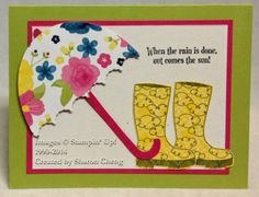 SHARING CREATIVITY and COMPANY: Rainy Day Card with Free Tutorial and Video