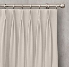Heathered Wool Drapery - French-Pleat