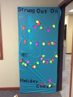 Strung out on Holiday Cheer Christmas Door Decorating Contest, Cheer, Classroom, Decorations, Frame, Holiday, Home Decor, Class Room, Picture Frame