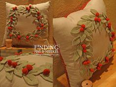Christmas wreath pillow Tutorial