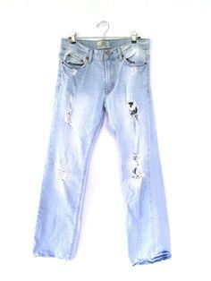 8eae5dc4aa AEROPOSTALE Men s Distressed Light Wash Slim Bootcut Jeans Size 30 32   Aropostale  BootCut