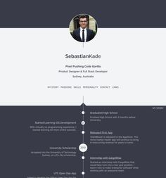 Sumry - a service for hosting an interactive version of your CV arranged as a timeline.