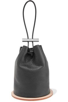 Building Block - Disc Textured-leather Bucket Bag - Black - one size