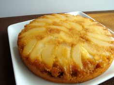 Ginger Pear Upside Down Cake with Lime Zest