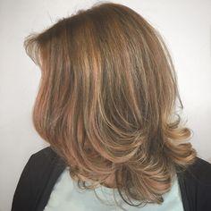 Subtle Rose Gold Balayage - Aveda Color - Tangerine Salon
