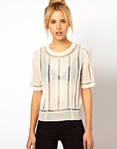 Top With Cutwork Panel Detail