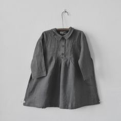 Slate Gray Dress with Buttons