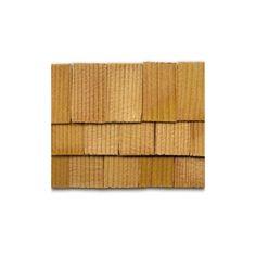 Bulk Classical Shaped 1:12 Scale 1000 pcs Dollhouse Miniature Cedar Shingles