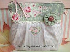 Tilda fabric used in cosmetic pouch