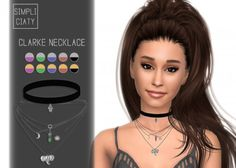 Simpliciaty - Clarke necklace for The Sims 4