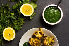 This fresh Coriander Chutney is ridiculously easy to make and is a delicious, refreshing accompaniment to almost anything including Samosas and Veg Pakora.