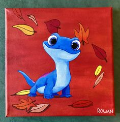 hippie painting ideas 668854982147624811 - Disney Frozen Bruni Fire Lizard canvas Acrylic painting Source by Disney Canvas Paintings, Disney Canvas Art, Cute Paintings, Simple Paintings On Canvas, Easy Acrylic Paintings, Disney Art Diy, Acrylic Painting Inspiration, Happy Paintings, Disney Crafts