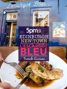 For Dine Out Edinburgh, enjoy 2 courses for just £15.95. L'Escargot Bleu is a popular French restaurant on the ever buzzy Broughton Street in Edinburgh. Vintage drinks adverts, efficient service and a soundtrack of Edith Piaf set the scene for satisfying, French culinary classics. From beef carpaccio, made at the table, to pig cheek casseroles made with Sunnyside Farm pork, the emphasis at L'Escargot Bleu is on big, bold flavours and authentic French cuisine. French Restaurants, Restaurant Offers, Regional, Edinburgh, Soundtrack, Casseroles, Pork, Scene, Beef