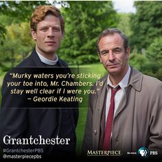 """""""The glorious new PBS mystery series """"Grantchester"""" is a revelation..."""" says The Wall Street Journal. Learn more with @masterpiecepbs."""