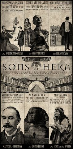 SONS OF HEKA printed on blueback paper