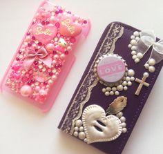 Barbie ipod & Purple flip case with a touch of vintage
