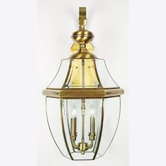 Four Light Antique Brass Wall Lantern : 40R6 | Annapolis Lighting