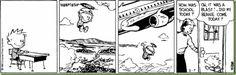 calvin imagines his flying beanie
