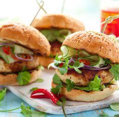 Hamburger mit Putenbrust und Gemüse Tags: