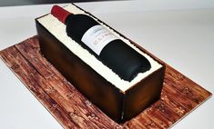 How to make a wine bottle cake in a wood crate by Liliana Da Silva from Sugarella Sweets Birthday Cakes For Men, Birthday Ideas, Wine Bottle Cake, Barrel Cake, Cupcake Cakes, Cupcakes, Fathers Day Cake, Retirement Cakes, Wine Baskets