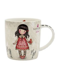 Taza Grande Gorjuss - Time to Fly Santoro London, First Girl, Coffee Mugs, Lily, Tableware, Gifts, Pictures, Rose, Sweet