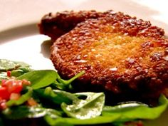 Crunchy Pork Chops with Garlicky Spinach and Tomato Salad from CookingChannelTV.com by Nigella Lawson