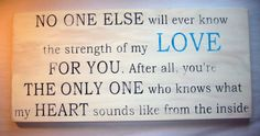 strength of my LOVE for you Baby Mom to be by CottageSignShoppe, $65.00