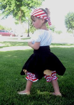 Toddler Girl Pirate Costume - 4 Piece Set. $68.00, via Etsy.