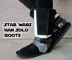 'Star Wars' Han Solo Boots DIY Instructions via Instructables.Com --- I think this is the only situation in which I could fathom ever wearing Ugg boots in public. ... #StarWars
