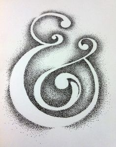 Ampersand Treatments by David Lopez, via Behance typography & Typography Logo, Typography Design, Ampersand Tattoo, Stippling Art, Type Posters, Letter Art, Art Plastique, David, Graphic Design