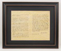 Framed Lincoln's Gettysburg Address with Black Matte