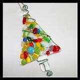 Fused Glass Christmas Tree Ornament - Delphi Stained Glass
