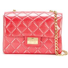 Designinverso Milano Crossbody Bag ($130) ❤ liked on Polyvore featuring bags, handbags, shoulder bags, crossbody shoulder bags, red crossbody, pink shoulder bag, crossbody purse and red cross body purse