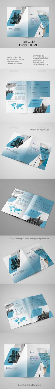 Corporate bifold brochure vol 4 - InDesign Template • Only available here ➝ http://graphicriver.net/item/corporate-bifold-brochure-vol-4/16928284?ref=pxcr Ultimate Graphics Designs is your one stop shop for all your Graphics And Video Solutions!