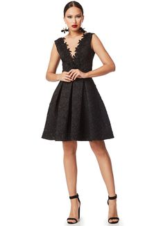 Mini μαύρο cocktail φόρεμα αμάνικο με V Black, Dresses, Fashion, Language, Vestidos, Moda, Black People, Fashion Styles, Dress