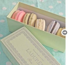 9 Mint green boxes On shopping expeditions, keep an eye out for mint green boxes in which you can hold any number of treasures, from jewelry to notecards. Ladurée has mint green in its iconic pastel arsenal. LesleySico on Etsy, $10.