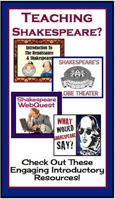 Shakespeare Introductory Resources includes presentations, activities, handouts, and worksheets to use before starting any Shakespearean work!