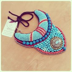 seed bead embroidery necklace