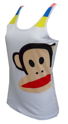 Paul Frank Julius White Racerback Tank, $16.50  So verstaile, this top pairs with many of our Julius bottoms and sweatshirts. These racerback style tank tops for women feature Paul Frank's signature Julius character on a white background. Great detailing at the shoulders. They are machine washable and easy care. Junior cut.