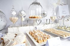 White/ Cream/ Ivory dessert and table ideas